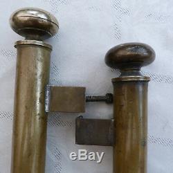 Poignées fixes longueur 40 cm bâton de berger Laiton ancienne porte entrée