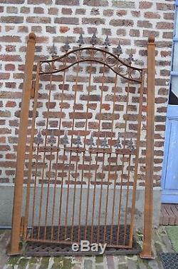Portail / Portillon En Fer Forge / 91 Cms De Large X 182 Cms De Haut