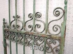 Portail jardin fer-forgé 2 vantaux L142 x H 185 cm 19ème siècle