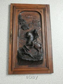 Porte Ancienne De Meuble Bois Sculpte Wood Furniture Door Henri 2, Serrure Buffet