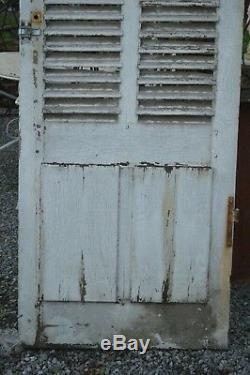 Porte Avec Des Lamelles De Volet / 81 Cms De Large X 262.5 Cms De Haut