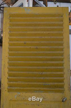 Porte Avec Des Lamelles De Volet En Chene / 79.5 Cms De Large X 198 Cms De Haut