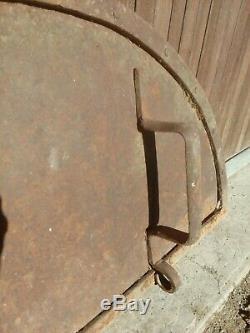 Porte Fer Forger Four À Pain Très Ancienne Ferronnerie