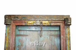 Porte Indienne Krishna Country Side Patine d'Origine Vieux Teck 120x15x205cm