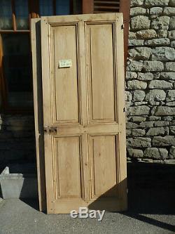 Porte ancienne décapée vieux bois