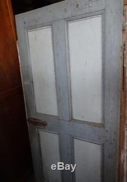 Porte ancienne, patine french grey XVIII em, jolie, chêne