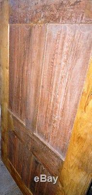 Porte ancienne, remontée sur un cadre, superbe, décor pli de serviette, médiéval
