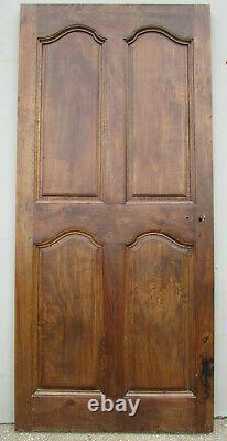 Porte chantourné communication bois Aulne ancienne 189 X 86 cm