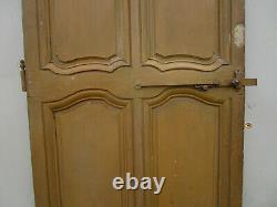 Porte chantourné communication bois Aulne peint ancienne 215 X 77 cm
