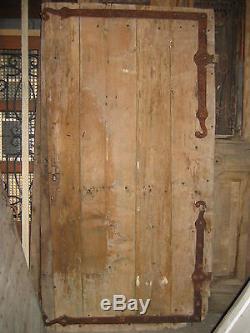 Porte cloutée louis XIV chêne/sapin