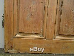 Porte communication chantourné Louis XV bois pin ancienne largeur 82 ht 195 cm
