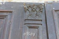 Porte d'entrée ancienne en noyer époque XIXème