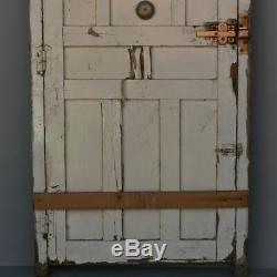 Porte d'entrée ancienne en pitchpin époque 1900
