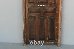 Porte d'entrée ancienne en pitchpin époque XIXème