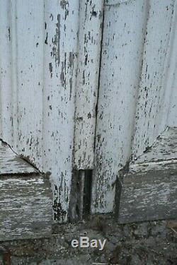 Porte d'entrée en chêne avec son bâti / 19 ème / 3m68 de haut x 1m87 de large