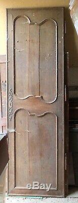Porte de bonnetière ou darmoire fin XVIIIe Louis XV noyer