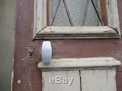 Porte de maison avec grill décor oiseau ancienne en chêne haut ouvrant