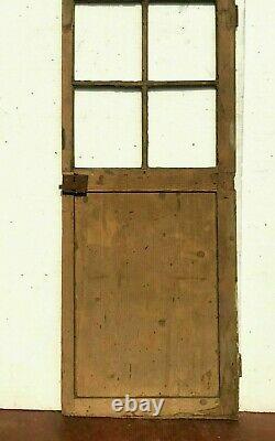 Porte de passage en sapin Porte ancienne a petit carreau XX siècle