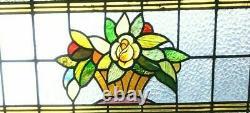 Porte de séparation a imposte en vitrail Art Déco Epoque 1900