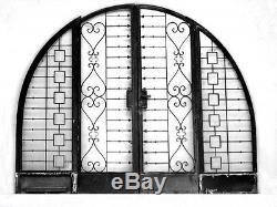 Porte en alcôve en fer forgé 1940