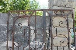 Porte fer forgé XIX siècle décoration cache radiateur autre