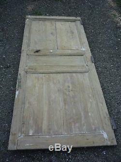 Porte louis XIII en bois, serrure et loquet(R)