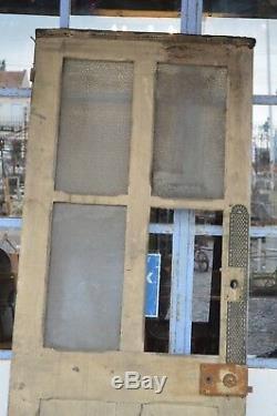 Porte vitrée en pitchpin / 70 cms de large x 2m03 de haut