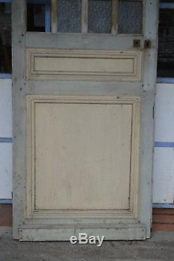 Porte vitrée en sapin