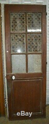 Porte vitrée en sapin / 67.5 cms x 198 cms