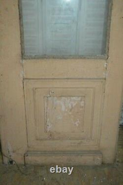Porte vitrée en sapin / 68 cms x 2 m