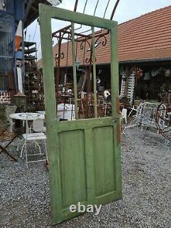 Porte vitrée en sapin / 96 cms x 2m20