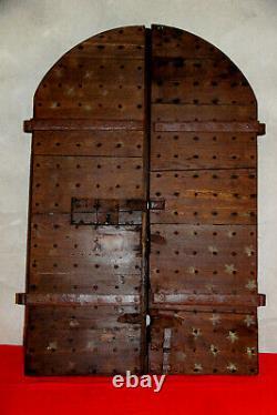 Portes Anciennes Bois Tableau Diptyque Annonciation XVII Eme