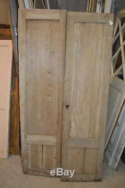 Portes Anciennes En Sapin Pour Placard / 1m68 De Haut X 85.5 Cms De Large