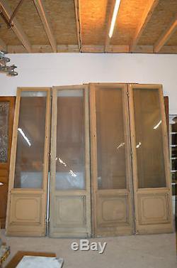 Portes De Separation Vitrees X 4 En Sapin / 2m80 De Long X 2m72 De Haut
