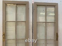 Portes anciennes Portes de passage double face Porte vitrée XX siècle
