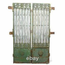 Portes anciennes époque fin XIXème en fer forgé