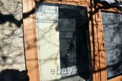 Portes anciennes sapin. La porte 2,04X0,80 Vitrage gravé Cuisine 0,915X0,58