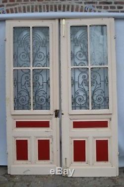 Portes d'entrée vitrée en chêne