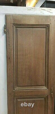 Portes de placard en chêne / 106 cms de façade x 163 cms de haut
