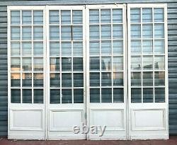Portes de séparation a quatre vantaux Petits carreaux biseautés XX siècle