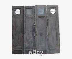 Portes en chêne avec hublots (les 4)