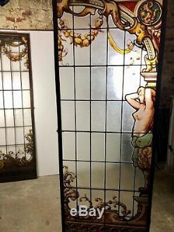 Portes / vitraux fin XIX eme signés L. CLAVIER