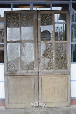 Portes vitrées en chêne / 138 cms de large x 2m02 de haut