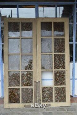 Portes vitrées en sapin / 140 cms de large x 1m83 de haut
