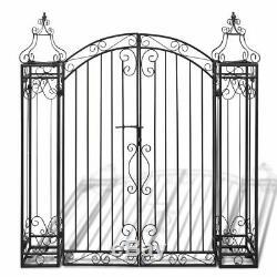 Portillon Ornemental de Jardin Fer Forgé Portail Entrée Porte Barrière