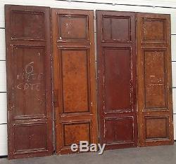 Quatre portes à encadrement double face en sapin massif / Portes anciennes /
