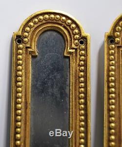 RARE PLAQUES de PROPRETE bronze ciselé doré HÔTEL PARTICULIER Napoléon III XIXe