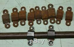 Rare 6 ancien verrou bas pour porte targette poignée clenche longueur 1 mètre