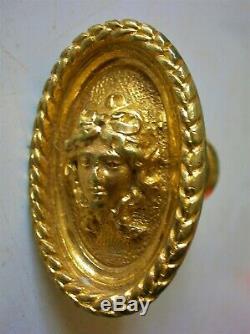 Rare ancienne poignée porte fenetre cremone serrure bronze chateau maison ST
