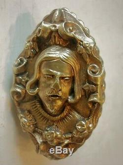 Rare ancienne poignee porte fenetre cremone serrure bronze deco chateau maison